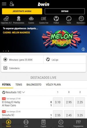 Imagen bwin app para apuestas deportivas