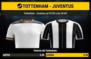 cuotas totteham - Juventus