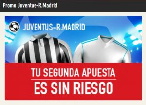Promo Juventus - Real Madrid en Sportium
