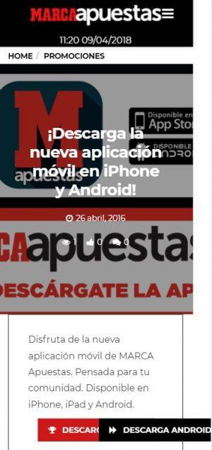 App movil Marca Apuestas