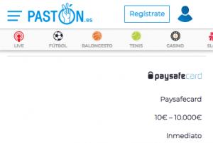 Pago Paysafecard Pastón