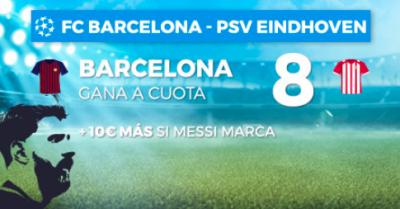 Megacuotas Barça - PSV, la Champions en Pastón.es