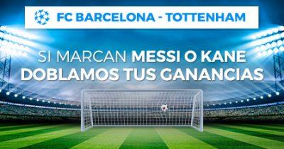 Dobla las ganancias de tus apuestas Barça - Tottenham