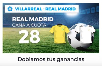 Megacuotas Pastón para tus apuestas Villarreal - Real Madrid