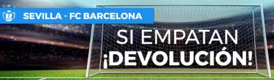 Promocion de Paston para las apuestas Sevilla Barcelona de Copa