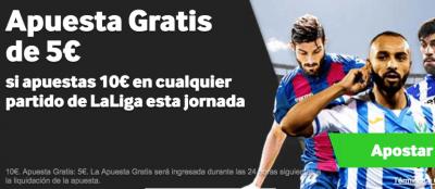 Promoción de Betway: 5 euros gratis al realizar apuestas de 10€ en el Barcelona - Español