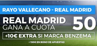 Promoción en las cuotas del Rayo - Real Madrid en Pastón