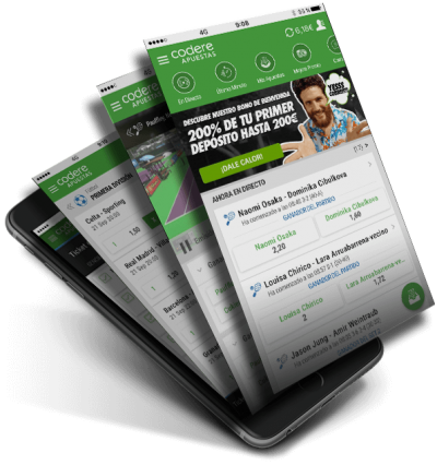 Codere app, disponible en Android