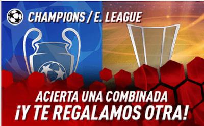 Apuestas gratis al hacer apuestas combiinadas en previa Europa League - Sportium