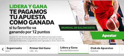 Promocion apuestas Mundial Basket 2019 - Betway