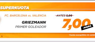Apuestas con cuotas mejoradas al Barcelona - Valencia con la Superkuota Kirolbet