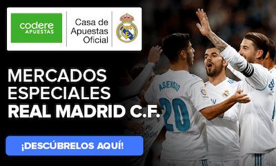 Apuestas al Real Madrid en Codere Apuestas