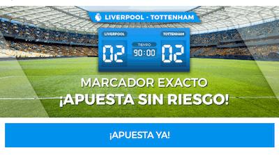 Promociones de apuestas en Paston al Liverpool-Tottenham