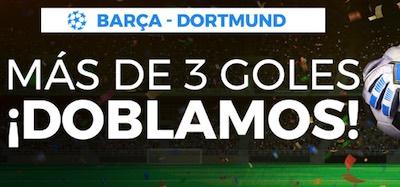 Promoción  en las apuestas al Barça - Borussia de Champions en Pastón