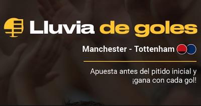 Promocion Lluvia de Goles en apuestas al United - Tottenham | Bwin