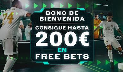 Bono Codere bienvenida en apuestas de 200 euros.
