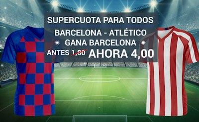 Supercuota doble Codere con tu pronostico de apuestas al Barcelona vs Atletico