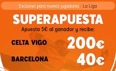 Superapuesta 888sport - Pronositco y cuotas al Celta - Barcelona