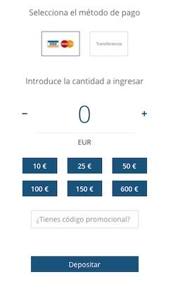 Depositos en 1xBet España