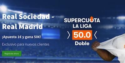 Super Cuotas al Real Sociedad vs Real Madrid de LaLiga en Betsson