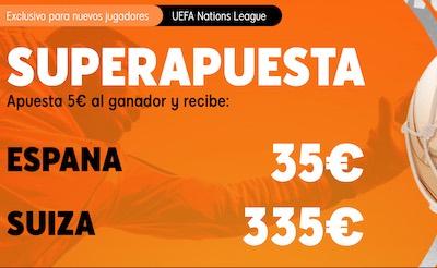 Superapuesta en tus cuotas al España vs Suiza de la Nations League
