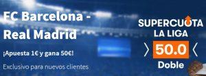 Apuestas clasico Barça Madrid en Betsson