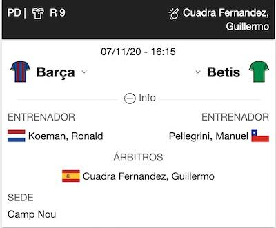 datos previa pronostico Barcelona Betis LaLiga 2020 en 1xBet