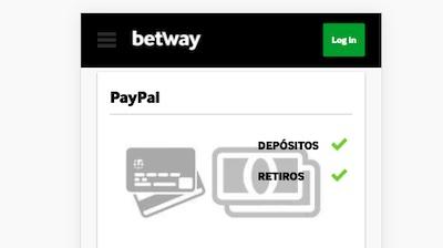 Depositos y retiradas en Betway mediante Paypal