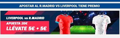 Tus apuestas al Liverpool Real Madrid tienen premio en Betfred