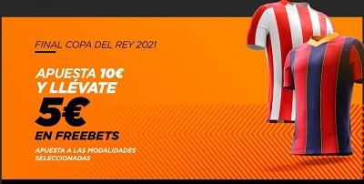 5 euros gratis con Kirolbet y tus apuestas a la final Athletic Barcelona de Copa