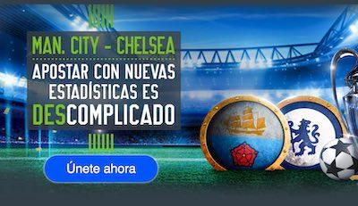 Apostar es descomplicado con las cuotas al Manchester City vs Chelsea en Codere