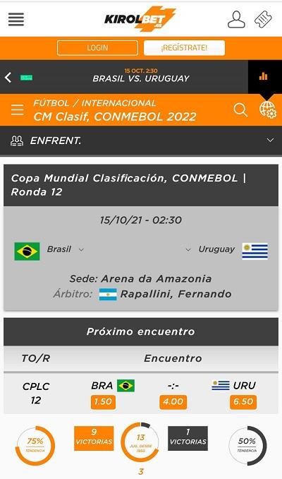 El mejor pronostico de apuestas y las mejores cuotas para el Brasil vs Uruguay